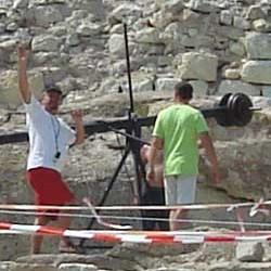 Bulgarian Television crew at Perperikon