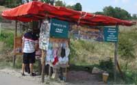 Souvenir shops at Perperikon